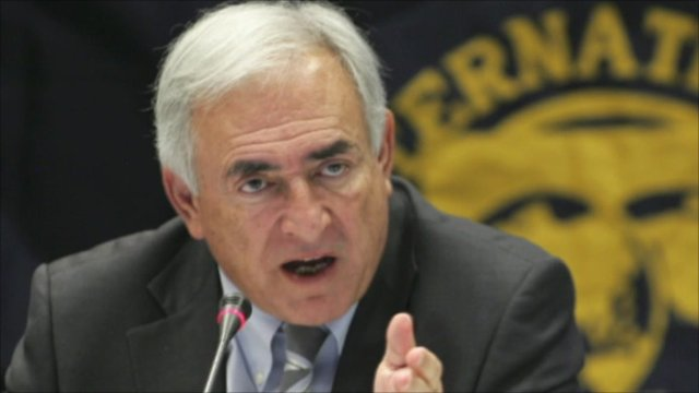 Strauss-Kahn , Managing Director del Fondo Monetario Arrestato